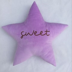 Pentagram pillow bed is convenient and practical purple