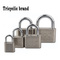 Three Ring Brand Iron Lock Blade Lock Electroplated Padlock Anti-rust Safety and Anti-theft 05 Look at the picture