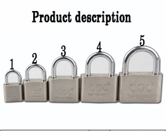 Three Ring Brand Iron Lock Blade Lock Electroplated Padlock Anti-rust Safety and Anti-theft 01 Look at the picture