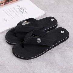 Trend summer fashion flip flops non-slip beach leisure home slippers male men's BLACK 39