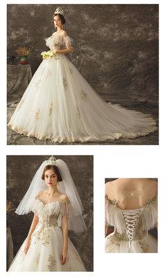 Hepburn's retro new light wedding dress female bride's main wedding dress s white