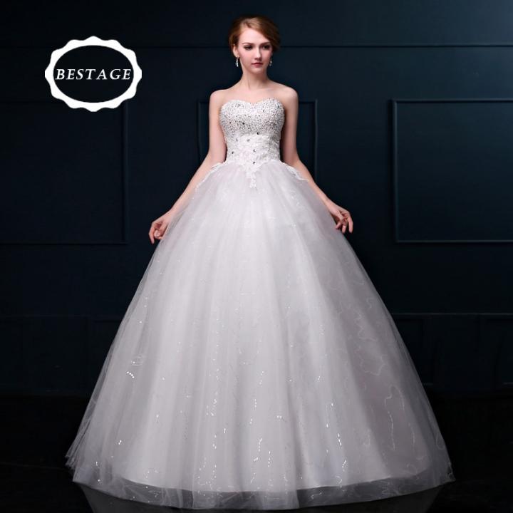 8f7738b87ac 2018 new high-end tube top simple wedding dresses slim Sexy elegant wedding  bride big