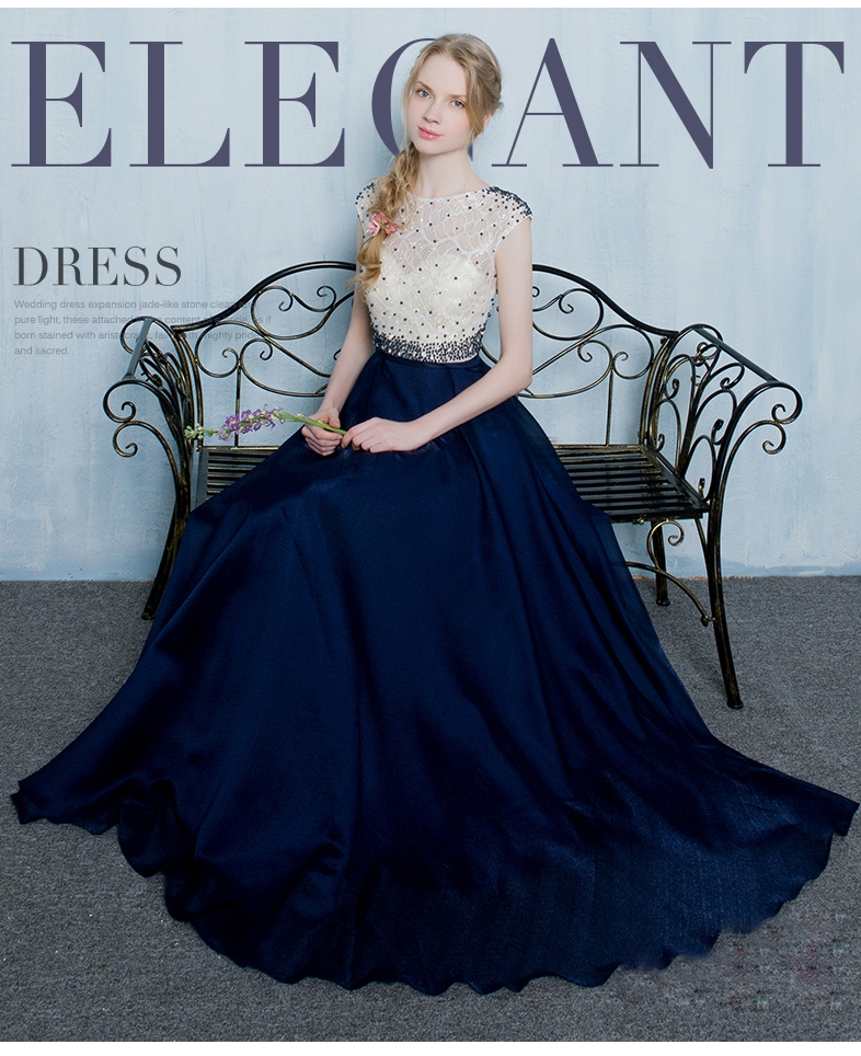 89b52b4597a97 Lace evening gown fashion long dress female host long party banquet ...