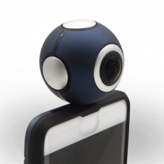 360°Panoramic Camera VR Panoramic Camera Mobile Phone Companion Online live Camera black Model-B