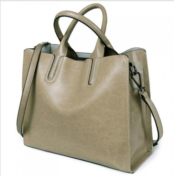Retro leather handbag big bag Mobile Messenger bag ladies of leisure bucket  bag leather bag Elephant 16bc8c2adea44