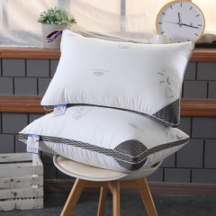 100% Cotton fabric Healthful Comfortable Bedroom Sleep Pillow white 48*74 cm