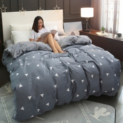 RedYoungth100% Cotton &100% polyester flannel one piece duvet cover Soft comfortable reactive print grey 150*200 cm