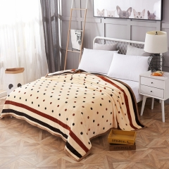 RedYoungth 1 pcs flannel blanket reactive print soft healthy and warm color 1 120*200cm 0.90kg