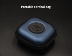 KZ PU Bag  High Quality Logo Package In Headset Headphones Case Protect blue