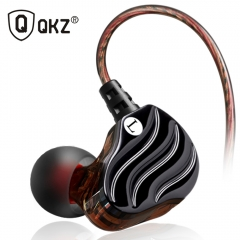 QKZ KD4 Dual Drivers HIFI In-ear Earphone Earbuds Universial Earhook Headset for Sport Running black