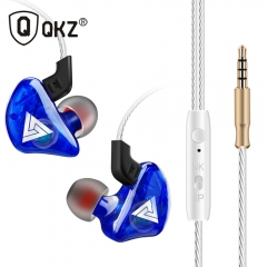 QKZ CK5 Earphone Sport Earbuds Stereo For Apple Xiaomi Samsung Music Cell Phone Running Headset dj blue