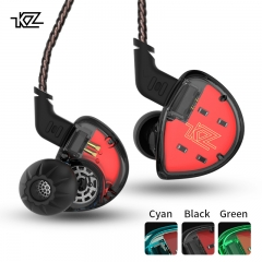 KZ ES4 In Ear Monitors Armature And Dynamic Hybrid Headset Ear Earphone Earbuds HiFi Bass Noise green(with mic)