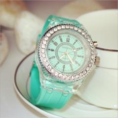 Fashion Tide LED Light Cool Tide Sports Personality Luminous Watches Clock mine green