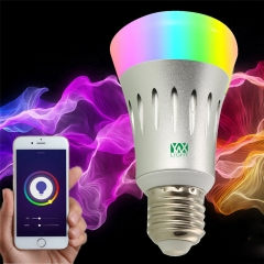 Ywxlight CC - 03 E27 Wi-Fi Multicolored Led Bulbs Dimmable Smartphone Controlled Ac 85 - 265V RGB one size 7W