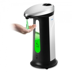 AD - 03 400ml Automatic Soap Dispenser with Built-in Infrared Smart Sensor for Kitchen Bathroom White and black one size