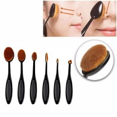 6Pcs Makeup Brushes Set Foundation Highlighter Brush Kit Eyeshadow Eyeliner Powder Make Up Tools black