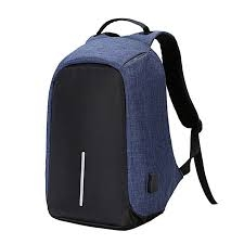 Anti Theft Back Pack-Blue Blue 15.6
