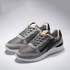 2018 color matching sports men's shoes ultra light casual lacing running men's shoes dark gray 39