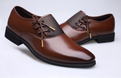 Men's Business Formal Shoes Wedding Comfortable Tip-top Leather Shoes brown(wool) 43 microfiber