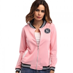 1PCS Women Ladies Fashion Coat Casual Long Sleeve Slim Casual Spring Autumn Coat Jacket pink s