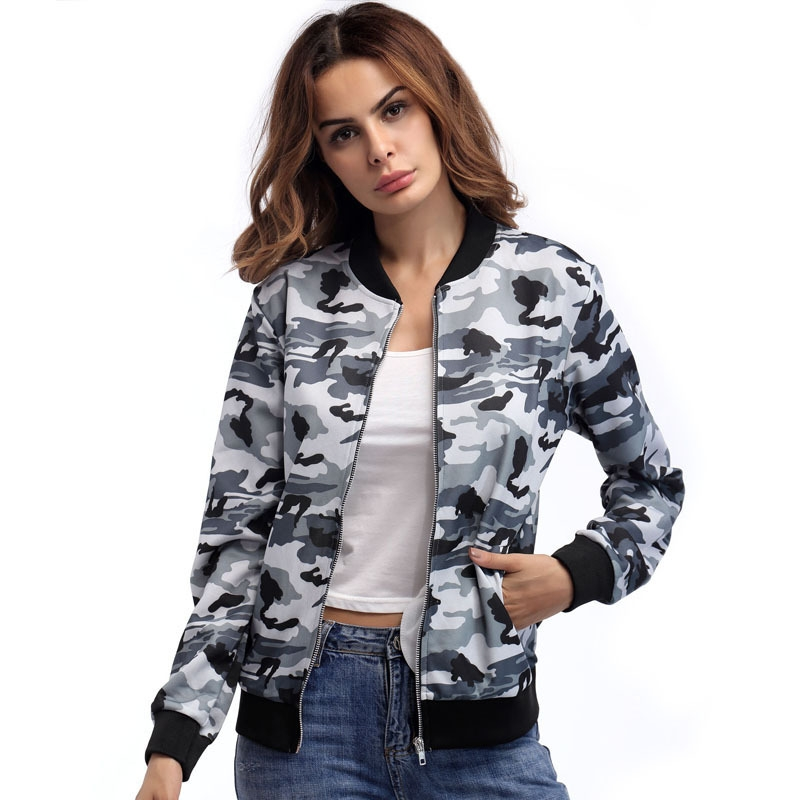 a0a0a00ebbf5 1PCS Fashion Coat Women Ladies Casual Long Sleeve Camouflage Jacket ...