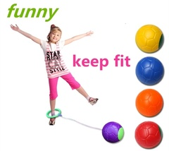 Funny Children Exercise One Foot Skip Hard Ball Plastic Jump Ball Outdoor Toys Red One Size