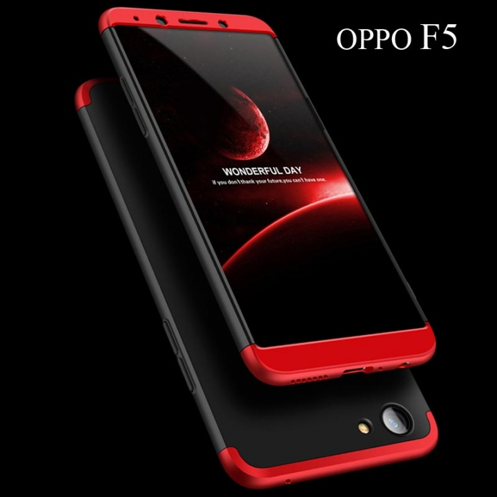 5XIAOHUO OPPO F5 360 Degree Full Protection Case Hard PC 3 in 1 Fundas Coque Back Cover black OPPO F5