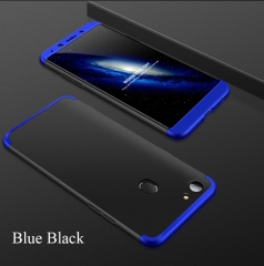 5XIAOHUO OPPO F5 360 Degree Full Protection Case Hard PC 3 in 1 Fundas Coque Back Cover blue black OPPO F5