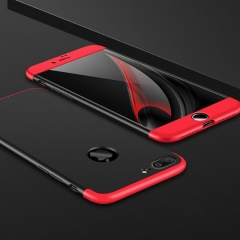5XIAOHUO for iphone 6/6s/7/8plus 360 Degree Full Protection Case Hard PC 3 in 1 cover red black iphone 7plus case