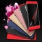 5XIAOHUO Huawei P9/mate9/honor6x 360 Degree Full Protection Case PC 3 in 1 Fundas Coque Back Cover black Huawei P9