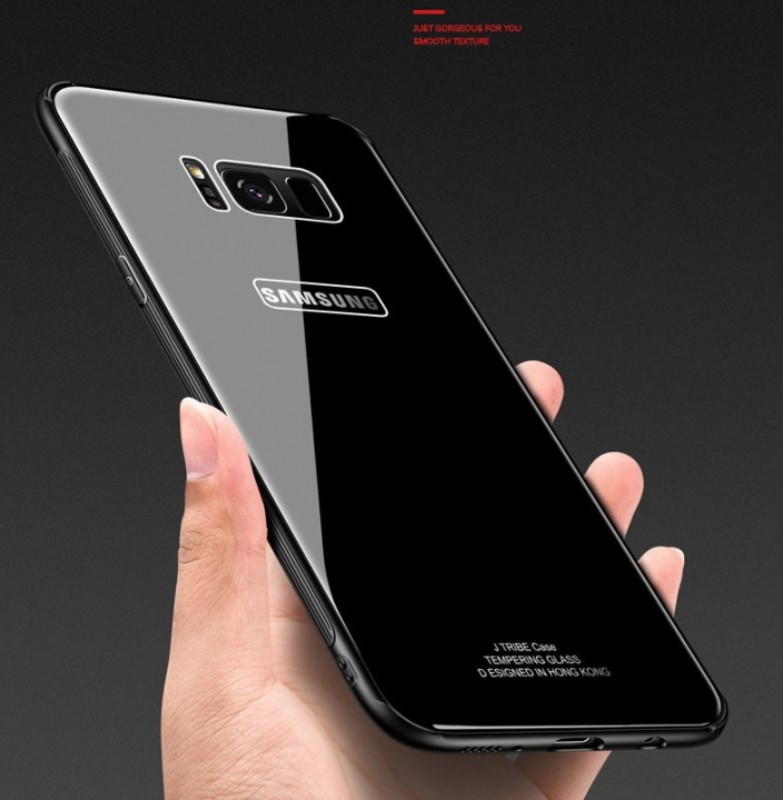 5XIAOHUO samsung s8/s8plus Case TPU Frame+9H Tempered Glass Back Cover samsung note8 case black samsung note 8