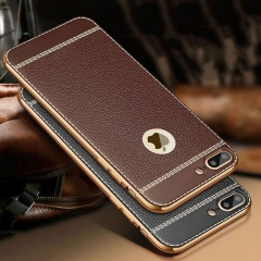 5XIAOHUO iPhone 8Plus/7/7Plus/6S/6SPlus/6/6Plus Phone Case Electroplated Business Soft Cover Black brown iphone 6 6s case