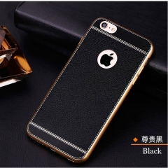 5XIAOHUO iPhone 8Plus/7/7Plus/6S/6SPlus/6/6Plus Phone Case Electroplated Business Soft Cover Black black iphone 7 8 case