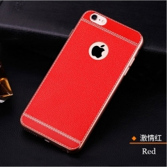 5XIAOHUO iPhone 8Plus/7/7Plus/6S/6SPlus/6/6Plus Phone Case Electroplated Business Soft Cover Black red iphone 6 6s case