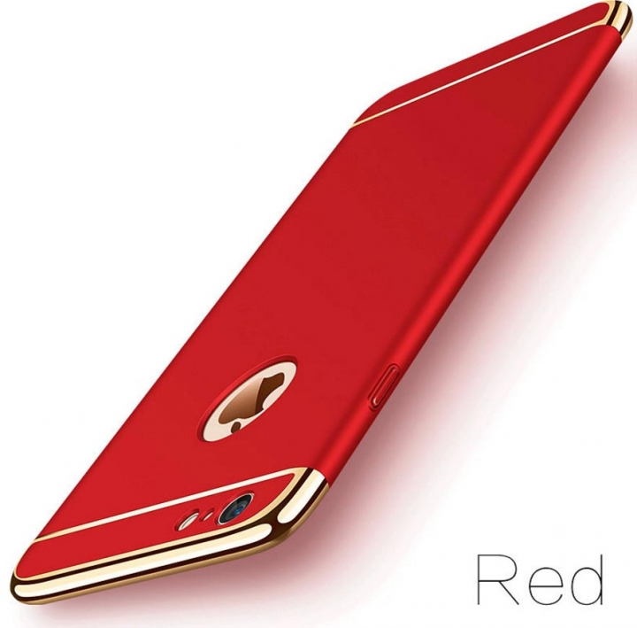 5XIAOHUO Hot sale for Iphone 7 6 6S 5 5S case Cover Coverage Removable 3 In 1 Fundas Iphone 7 8 Plus red iphone 7 8 case