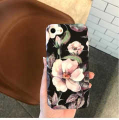 5XIAOHUO for iphone7case Vintage for iphone 6/6plus case Flower oil painting for iPhone 7/8plus case photo color1 iphone 6 6s case