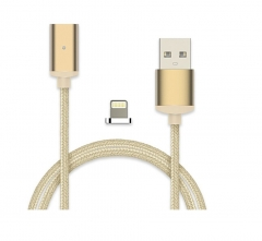 5XIAOHUO Metal Head Magnetic cable8 Pin Micro USB to USB Data Sync Charging Cable for iPhone/android gold iphone