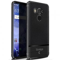 5XIAOHUO HTC U11 plus case Litchi skin pattern gel Falling for HTC U11 plus case gray HTC U11 Plus