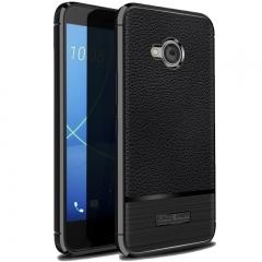 5XIAOHUO HTC U11 Life case Litchi skin pattern gel Falling for HTC U11 Life phone case gray HTC U11 Life