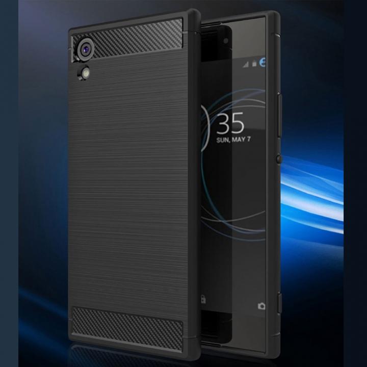 5XIAOHUO Sony Xperia XA1 phone case Brushed TPU Silica gel for Falling soft Sony Xperia XA1 case green Sony Xperia XA1