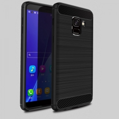 5XIAOHUO Samsung Galaxy J6 2018 phone case Brushed Silica gel Falling for Galaxy J6 2018 soft case gray Samsung Galaxy J6 2018