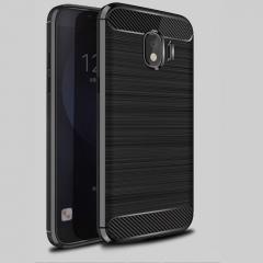 5XIAOHUO Samsung Galaxy J4 2018 phone case Brushed Silica gel Falling for Galaxy J4 2018  soft case gray Samsung Galaxy J4 2018