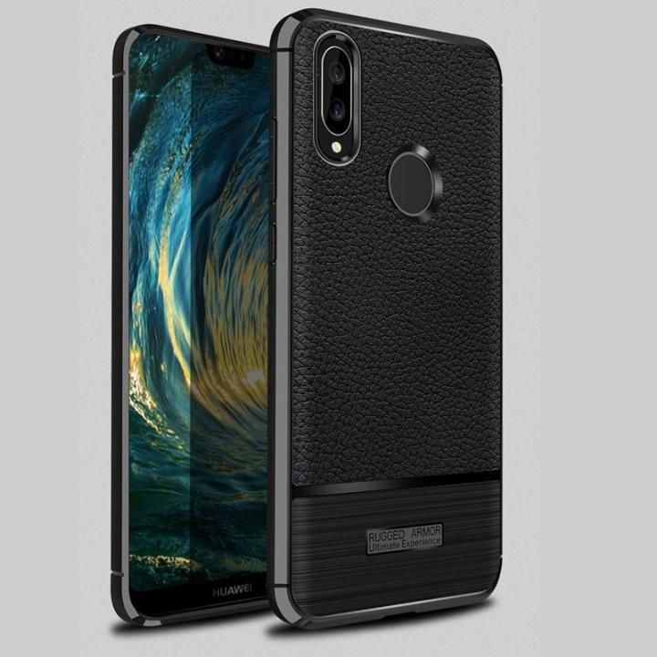 5XIAOHUO huawei P20 Lite phone case Falling Litchi patternl for huawei TPU soft Covers cases gray Huawei P20 Lite