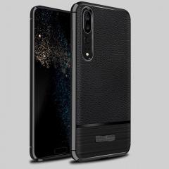 5XIAOHUO huawei P20 Pro phone case Falling Litchi patternl for huawei TPU soft Covers cases gray Huawei P20 Pro