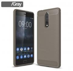 5XIAOHUO Nokia 8 phone case Drawing Silica gel Falling for Nokia 8 TPU soft case gray nokia 8
