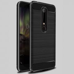 5XIAOHUO Nokia 6 2018 phone case Drawing Silica gel Falling for Nokia 6 2018 TPU soft case gray nokia 6 2018