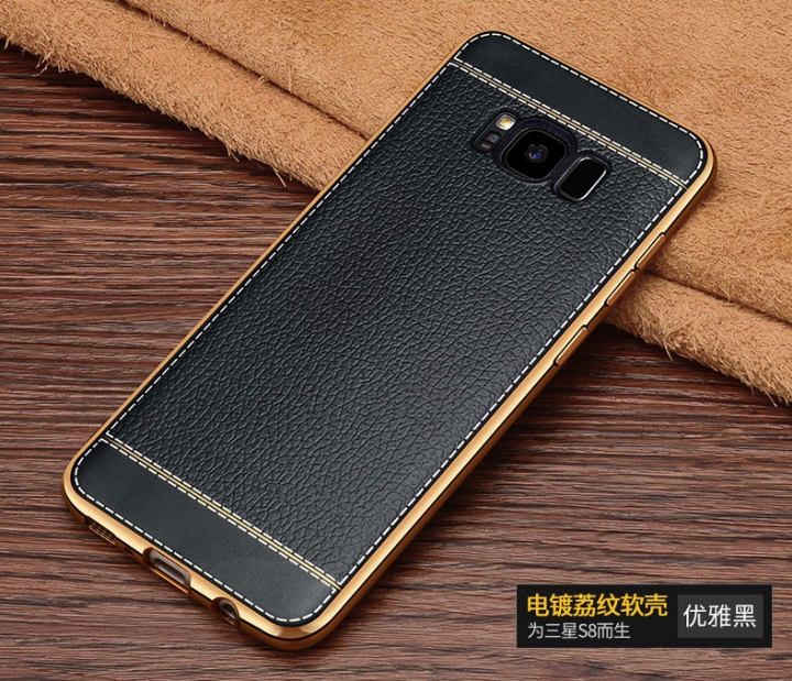 5XIAOHUO Fashion leather phone case For samsung galaxy s7 edge Case Leather soft TPU material covers black samsung s8 plus