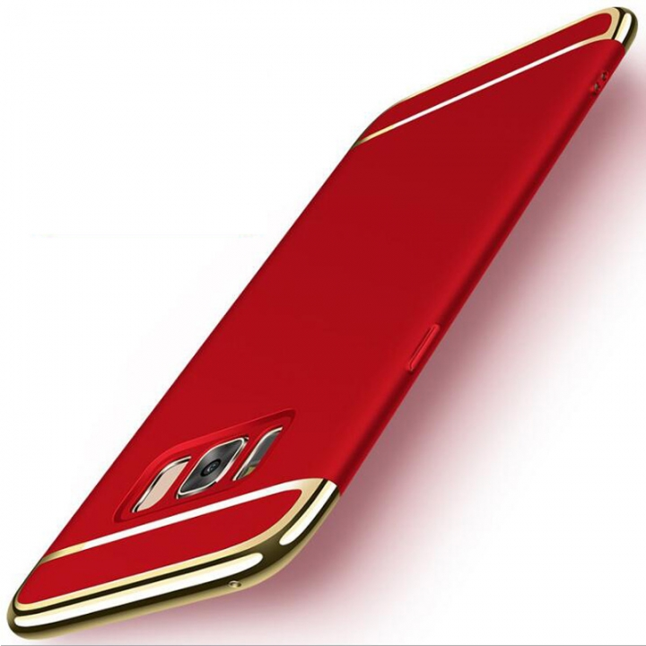 5XIAOHUO Samsung s7 s6 j5 j7 s7edge case 3 in 1 Plating Matte Hard for s8 s8plus Case red samsung note8