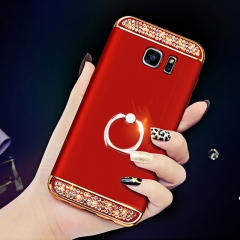 5XIAOHUO for Samsung S7 phone case cover s7edge hard shell with stand anti-drop dril red samsung s7