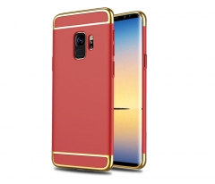 5XIAOHUO Samsung note8 3 in1 phone case three-section S7edge electroplating protective sleeve S8plus red samsung s8